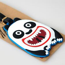 Monster Panda Soft Silicone Rubber Luggage Bag Backpack Address Tag