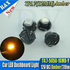 10x Warm White T5/T4.7 Neo Wedge Bulb Dash Climate Control Heater Light DC12V