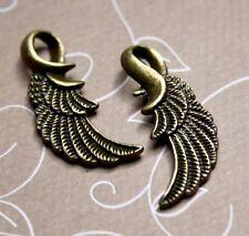20 pcs Antique bronze charm wing