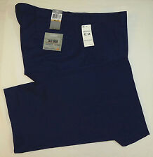 Dockers - dark navy mens easy khaki classic fit flat front pants 42X34 NWT
