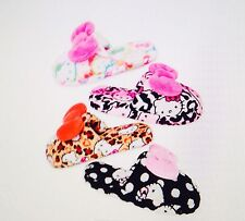 Hello Kitty Super Plush Slide Slippers-Leopard Kitty Size 5/6 NWT  N