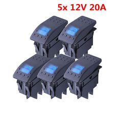 5X 4-pin  LED Light 12V 20A Car Boat Round Rocker WATERPROOF TOGGLE SWITCH