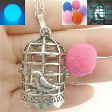 Bird Cage Locket Necklace Essential Oil Aromatherapy Perfume Fragrance Diffuser