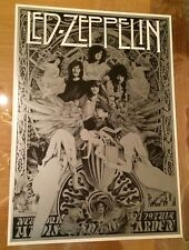 Led Zeppelin 1973 Commemorative Concert Poster From Madison Square Garden
