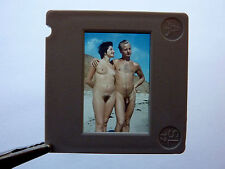 Nudism NUDE COUPLE ON BEACH NACKTES PAAR AM STRAND FKK * DDR Dia 1950s GDR Slide