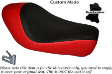 BLACK & BRIGHT RED CUSTOM FITS HARLEY SPORTSTER LOW IRON 883 SOLO SEAT COVER