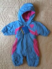 New Columbia size 6 months Baby Girl Snowsuit Pink Aqua Mazzy Munchkin