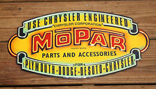 Mopar Chrysler Vintage Style Tin Signs Plymouth Dodge Man Cave Garage Neon Look