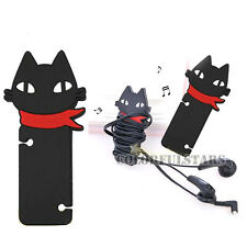 Cat  Rubber Headset  Headphone Earphone Cord Cable Wire Winder Coiling Organizer