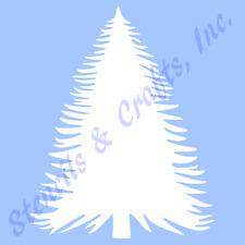 """5"""" PINE TREE STENCIL PATTERN PLANT STENCILS TEMPLATE CRAFT TEMPLATES NEW 4"""" X 5"""""""