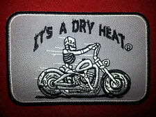 IT'S A DRY HEAT BIKER DEATH SKULL MOTORCYCLE JACKET VEST BIKER PATCH