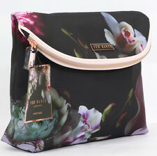 New Designer Ted Baker Black Floral MakeUp Case Cosmetic Travel Wash Bag Handbag