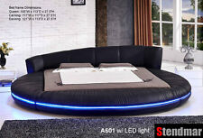 Queen Modern platform Round Bed with LED Light A601