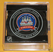 NEW YORK ISLANDERS 1972-2015 43 Years of History OFFICIAL GAME PUCK NEW Brooklyn