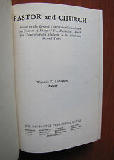 Pastor and Church by William Ketcham Anderson 1943 HC -how to for minister