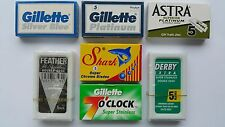 35 FEATHER GILLETTE SHARK ASTRA DERBY Blade Sampler