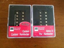 Seymour Duncan SH-11 Custom Custom and Alnico II Pro APH-1N Humbucker Set BLACK