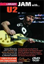 LICK LIBRARY Learn To Play JAM WITH U2 Vertigo Pride Sunday Bloody GUITAR DVD