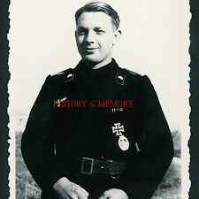 PHOTO WW2 TANKISTE BLACK DRESS UNIFORME CROIX FER IRON CROSS 7e PANZER DIVISION