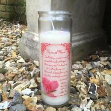 SPECIAL MUM MEMORIAL CANDLE - Grave Garden Loved One Memory Angel Verse Mother
