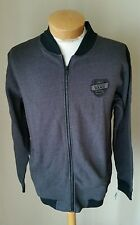 NWT Vans Men's Campus Black Gray Zip Up Jacket XL