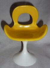 * ACCESSORY ~ MATTEL FURNITURE BARBIE DOLL YELLOW POP LIFE CHAIR FOR DIORAMA