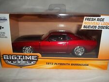 Jada Big Time Muscle 20003 Plymouth Barracuda 1973 Red 1/43 New & Boxed