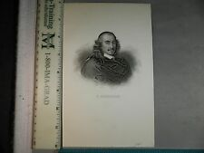 Rare Antique Original VTG 1844 P Corneille Hopwood Portrait Engraving Art Print