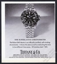 1978 Rolex GMT-Master watch with Tiffany's dial photo vintage print ad