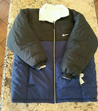 Nike XL puffy Snowboarding Winter Jacket Blue Black RN 56323 05553 VTG 90's