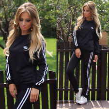 2Pcs Lady Womens Tracksuit Hoodies Sweatshirt Pants Sets Sport Wear Casual Suit