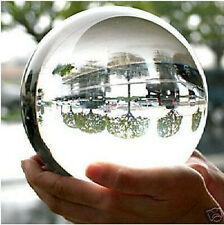 HOT SELL! HUGE ASIAN QUARTZ CLEAR CRYSTAL BALL SPHERE 80MM + STAND