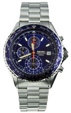Seiko SND255 Men's Stainless Steel Blue Dial Chronograph Sports Watch