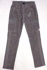 NAARTJIE Girls 10 Green Corduroy Cargo Pants Crochet Worn Once