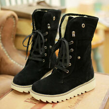 Fashion Women boots comfort shoes flats round toes Ankle Winter Warm boots #UIO