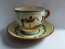 Torquay motto ware cup and saucer Ilfracombe  take a cup of tea (ref33)