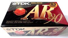 3 x TDK AR 90 - Blank Audio Cassette Tapes | Ferric / Normal Bias | TDK AR90