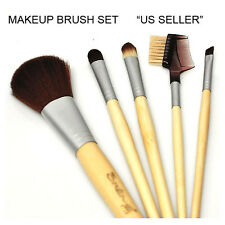 """US SELLER"" Bamboo Eco Makeup Cosmetic Brush 5pc Set Tool"