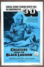 Creature from the Black Lagoon Vintage Original 3D TriFold Movie Poster R72