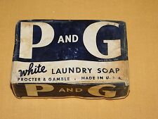 VINTAGE WWII HOMELAND P & G WHITE LAUNDRY SOAP BAR IN BOX
