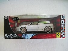 Hot Wheels Whips Ferrari 360 Spider 1:18 Diecast White
