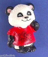 BUY1&GET1@50%~Hallmark PIN Valentines BEAR Be Mine PANDA SHIRT TALES Vtg Brooch