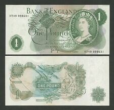 BANK OF ENGLAND - QEII Page £1 1970-8 - UNCIRCULATED -  ( Banknotes )