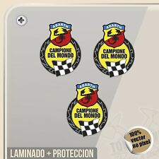 PEGATINA KIT ABARTH CAMPIONI DEL MONDO FIAT VINYL STICKER DECAL ADESIVI