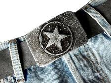 Stella STAR Grigio Vintage Biker Fibbia Cintura Fibbia di cambio Buckle 4 cm
