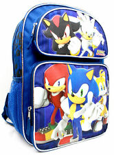 "Sonic- The Hedgehog Large School Backpack16"" Book Bag Shadow Silver 7391 #118976"