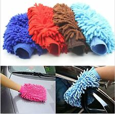 Car Microfiber Truck Cleaning Wash washing Mitten Cloth Clean Brush Gloves JU