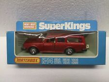 MATCHBOX SUPERKINGS K74 VOLVO ESTATE 1970s RED MINT BOXED