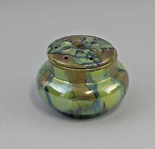 Lüstrierte Blumen-Steck-Vase Keramik Laufglasur Mitte 20. Jh. 25445238