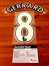 2007-13 Liverpool Home Shirt GERRARD#8 Lextra KIDS/YOUTH Name Number Set